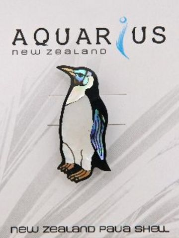Paua Penguin Brooch