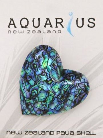 Paua Cracking Heart Brooch