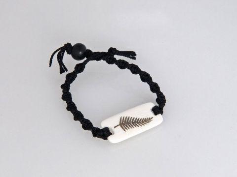 Bone Fern Rec Macrame Bracelet - Large