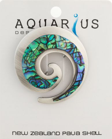 Paua Chrome Koru Brooch
