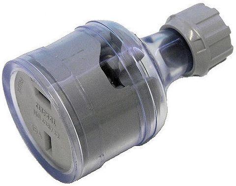 Socket 12-32V 15A polarised in-line