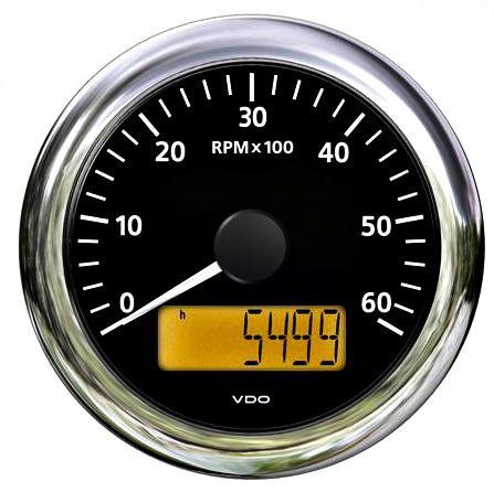 Tach-hourmeter VLB 85mm 12/24V 3000r/min