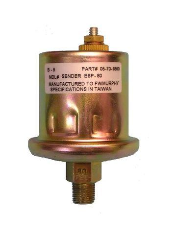 Sensor pres 240Ohm 080PSIearthSS 1/8NPT+