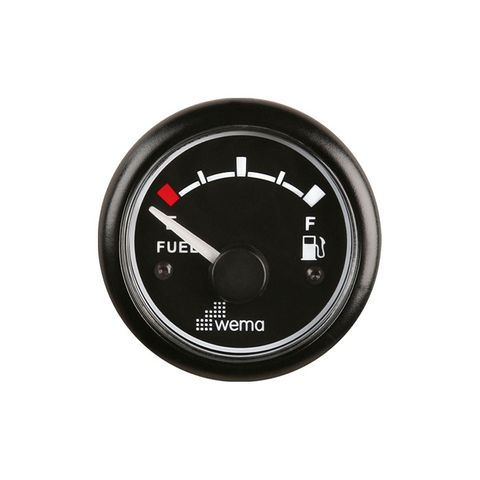 Gauge fuel WEMA 180 Ohm 12V bk/bk