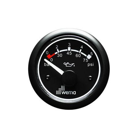Gauge pressure WEM 500kPa 12V bk/bk