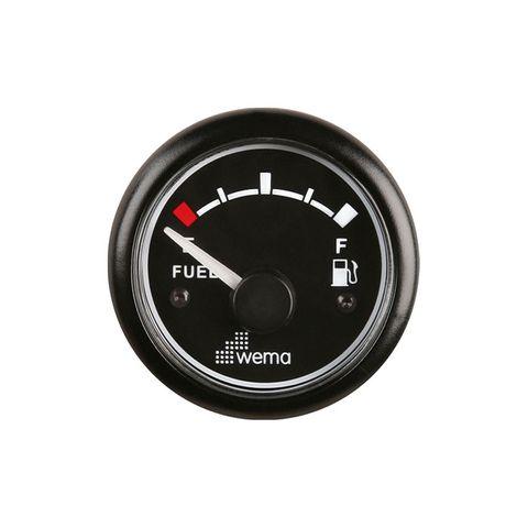Gauge fuel WEMA 240 Ohm 12V bk/bk