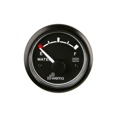 Gauge water WEMA 180 Ohm 12V bk/bk