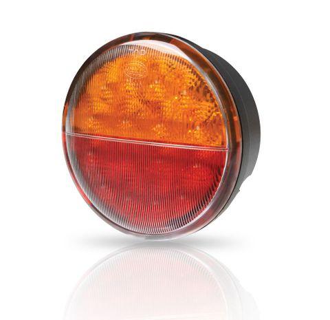 Light trailer LEDround comb 12/24V pair+