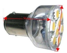 Lamp LED BA15D8SMD 10-30V cwe spot