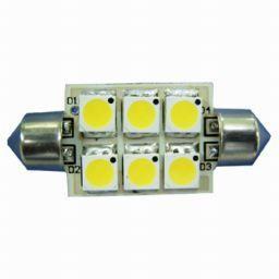 Lamp LED Festoon 37mm 6SMD 8-30V cwe