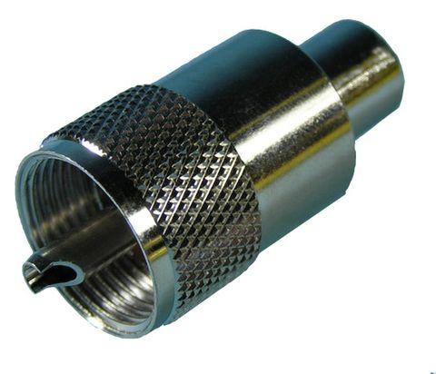 Plug UHF PL259 RG58/U screw/solder