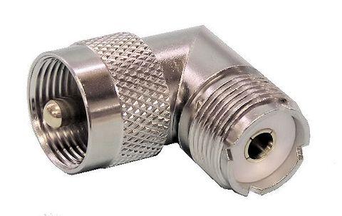 Plug UHF PL259 90deg male-female adaptor