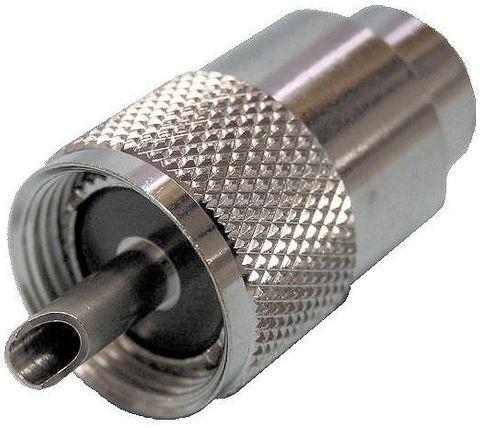 Plug UHF PL259 RG213 screw/solder