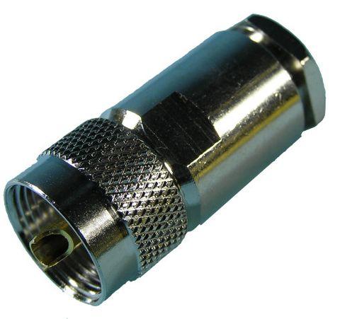Plug UHF PL259 RG213 clamp/solder