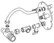 Mixer valve thermostatic waterheater