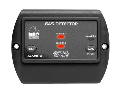 Gas Detector 2 chanel & switch, 1sensor+