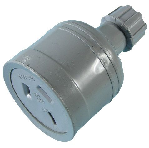 Socket 240V 15A in-line +