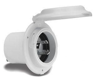 Plug inlet Marinco 230V/16A rnd plastic+
