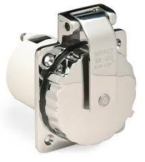 Plug inlet Marinco 125V/30A s/s +