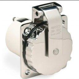 Plug inlet Marinco 230V/32A s/s +