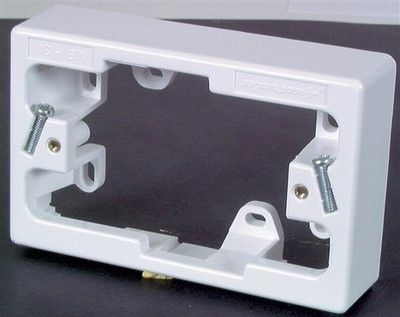 Surface mounting block for GPO34mm deep