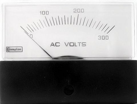 Voltmeter panel AC 300 V 58x76mm