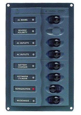 Distr panel AC 1DP 6SP no meter +