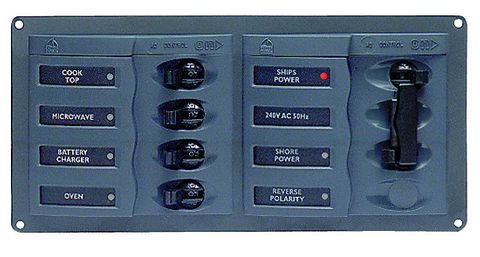 Distr panel AC 2DP 4SP no meter +