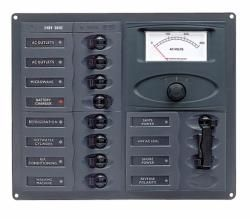 Distr panel AC 2DP 8SP an meter +