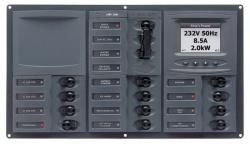 Distr panel AC 2DP 12SP an meter+