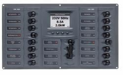 Distr panel AC 2DP 16SP di meter+
