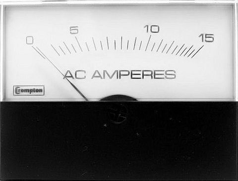 Ammeter panel AC 05 A 58x76mm direct+