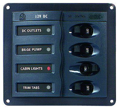 Distr panel DC BEP900 1x4 no meter+