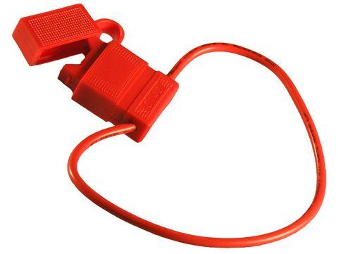 Fuseholder blade in-line red