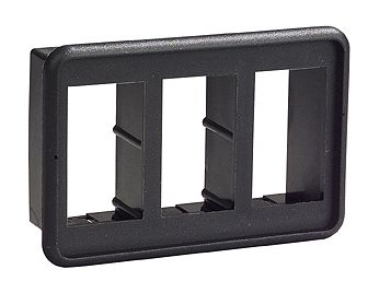 Switch rocker blk mounting three switch