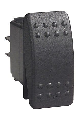 Switch rocker C2 blk ill 12V 0-I