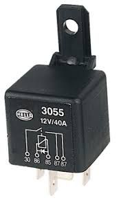 Relay Hella 12V40A 5pin diode protected+