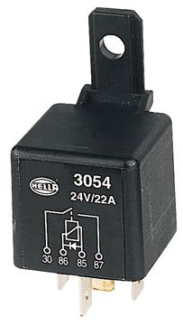 Relay Hella 24V 22A diode protected+