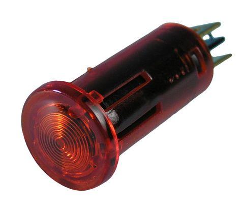 Light panel push-in 13mm 12V sealed red+