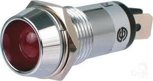 Light panel  LED chrome d14mm 12V red