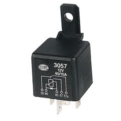 Relay 12V40/15A CO diode protected HELLA
