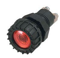 Light pan d15mm BA9S 12V red