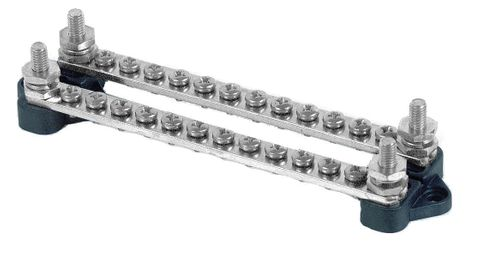Bus bar BEP 2@(12x4mm screws, 2x6mm stud