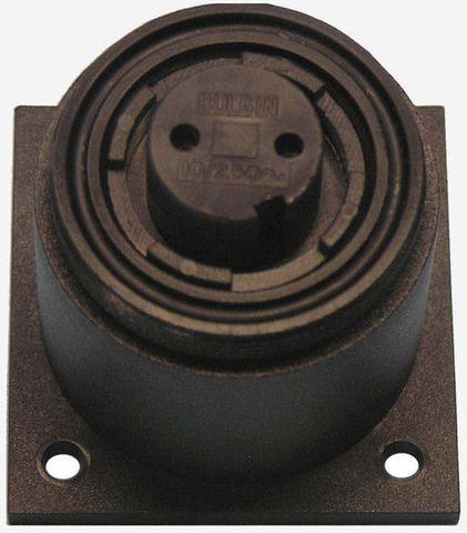 Bulgin socket surface mt 2 pin 10A kit