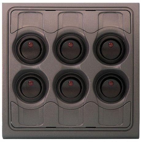 Panel Contour 1000 6 switch fused 12V+