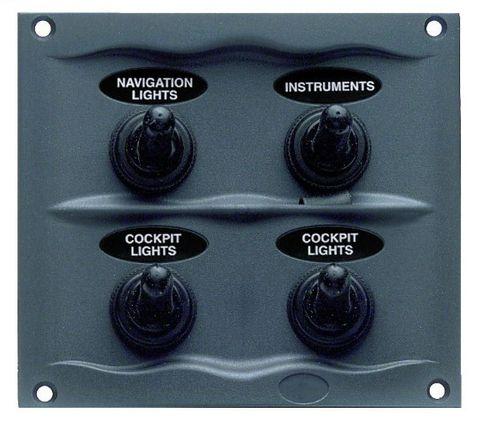 Switch panel BEP 4 sw splashp&fuse grey