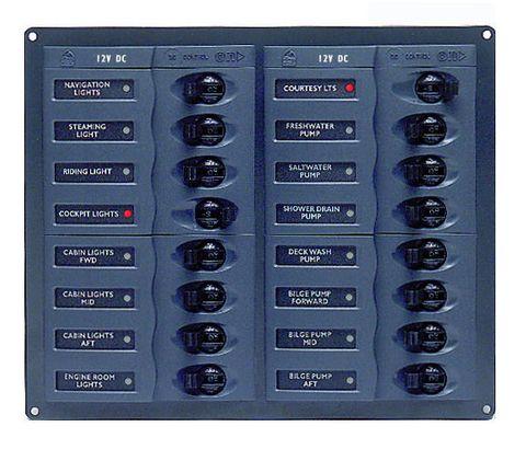 Distr panel DC BEP904NM 16 (2x8)nometer+