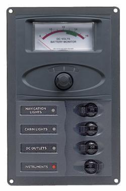 Distr panel DC04 vert anal V meter +