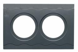 Panel plate BEP CC1 2x52mm cutouts+