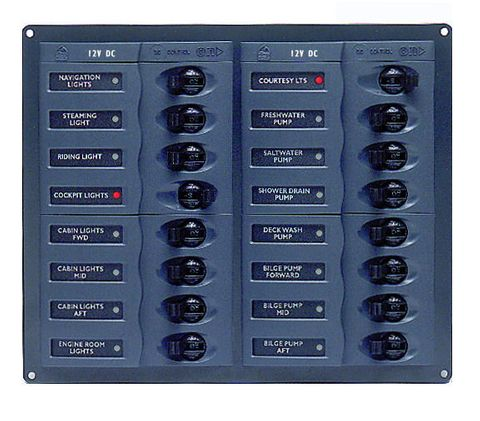 Distr panel DC BEP904NM 16 (2x8)nometer+